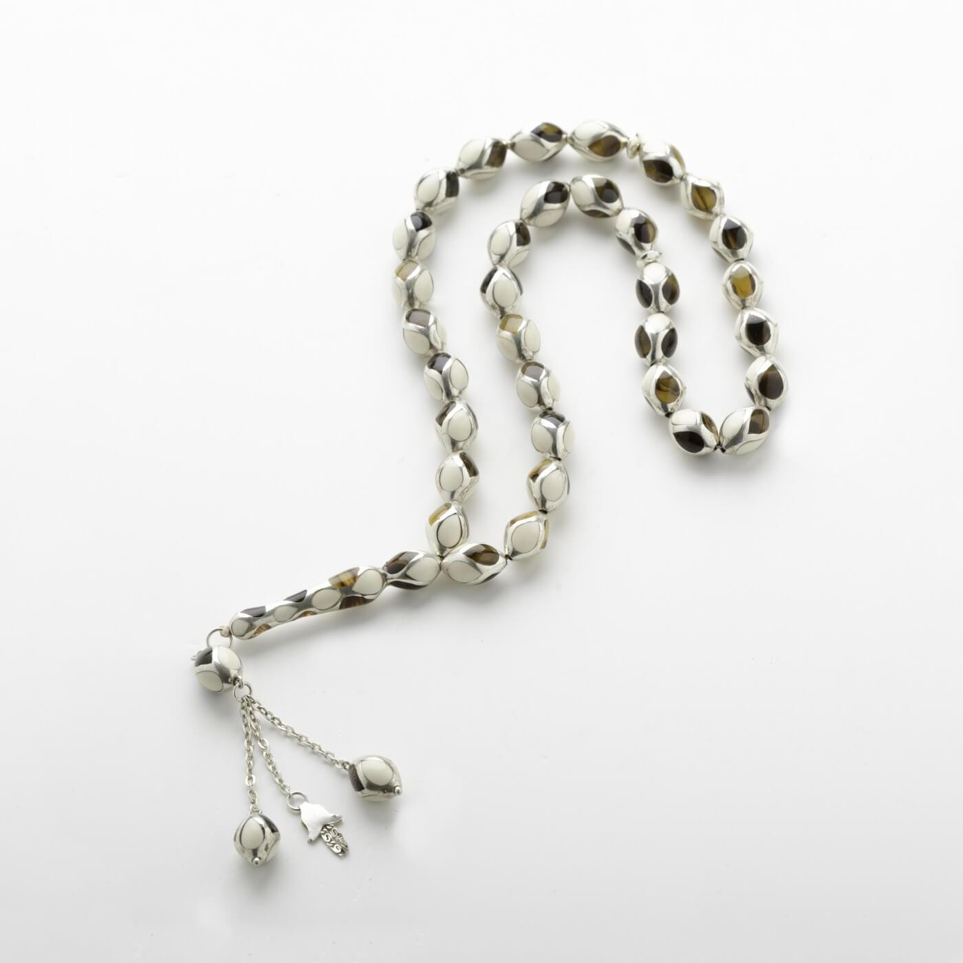 Ivory Terisa with Silver Prayer Beads