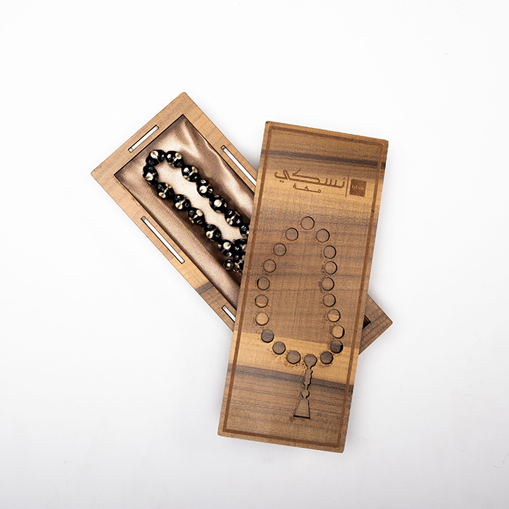 Yusur Prayer Beads with Circles of Silver and Ivory