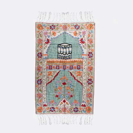 Makkah Kashmiri Emorboried Prayer Mat