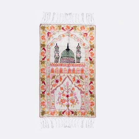 Madinah Kashmiri Embroidered  Prayer Mat