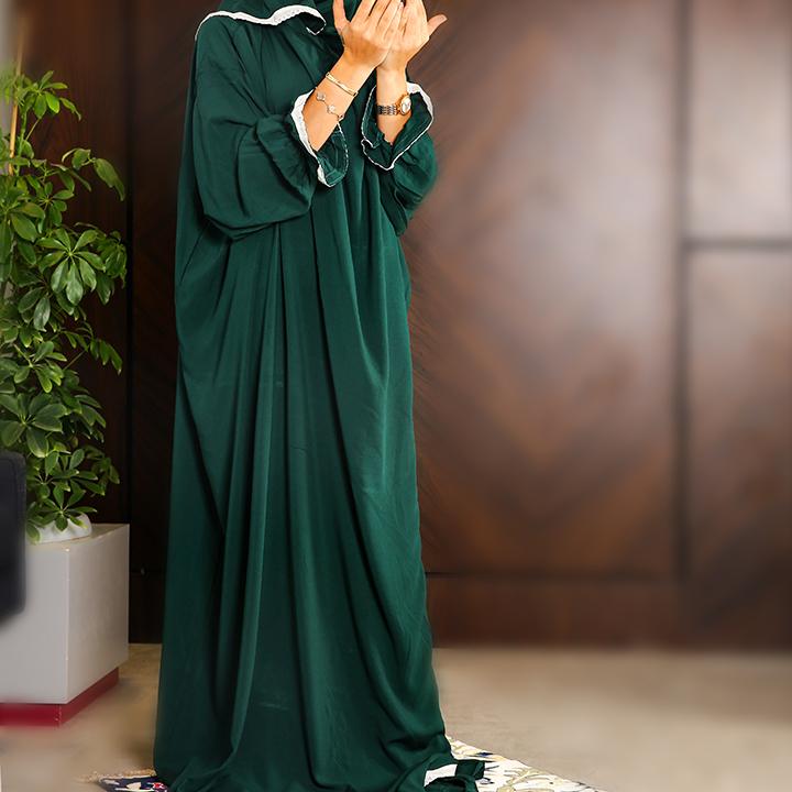 Plain Open Prayer Wear - S/M Dark Green