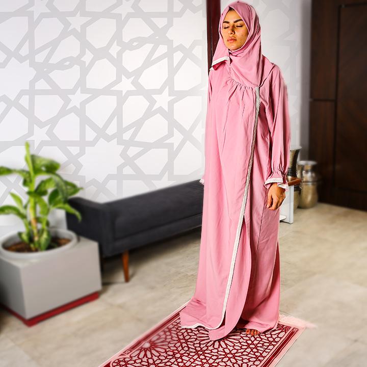 Plain Open Prayer Wear - S/M Pink