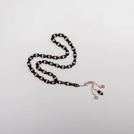 Dotted Coral Prayer Beads with Silver