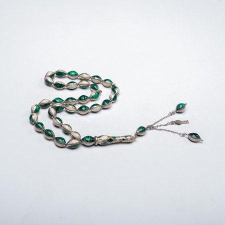 Green Amazonite and Ivory Prayer Beads