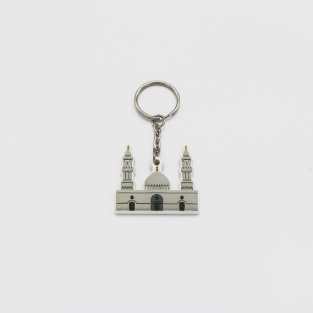 سلسلة مفاتيح  مسجد القبلتين - مطاط
