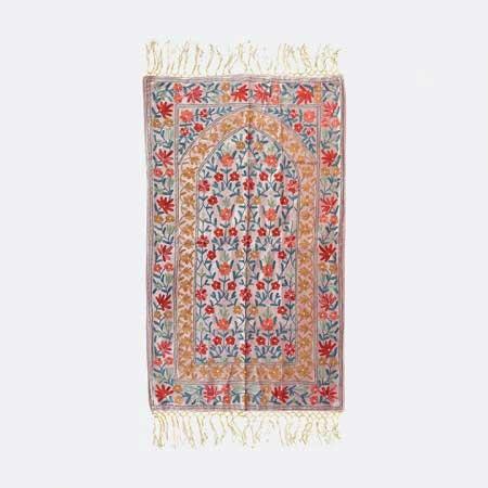 Kashmiri Velvet Prayer Mat | kashmiri prayer mat
