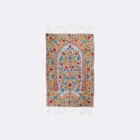 Floral Kashmiri Embroidered Prayer Mat