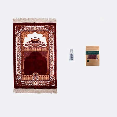 Al Haram Al Makki Prayer Mat (Hand Sanitizer and Mask)
