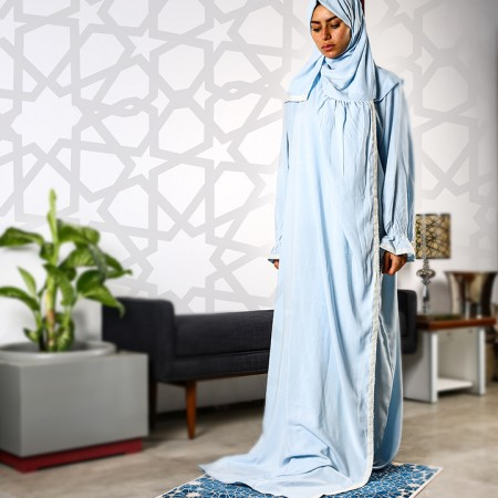 Plain Open Prayer Wear - S/M Baby Blue