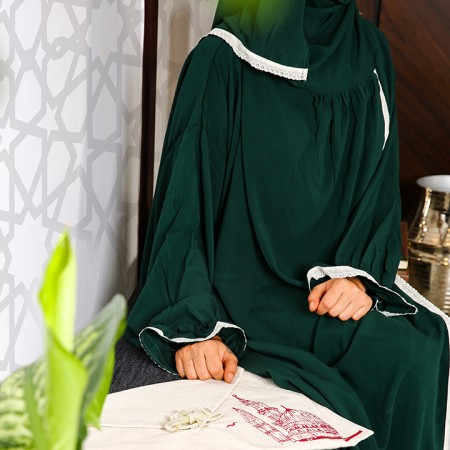 Plain Open Prayer Wear - S/M Dark Green
