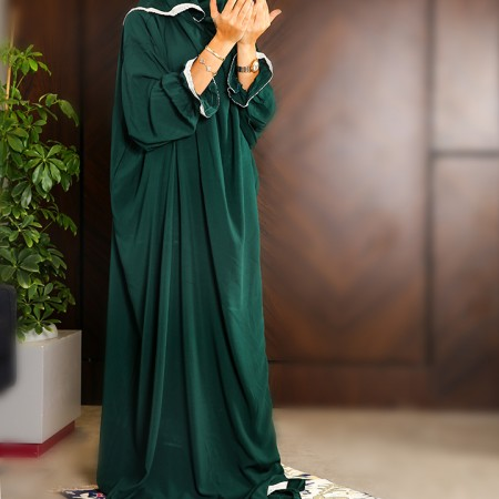 Plain Open Prayer Wear - L/XL Dark Green