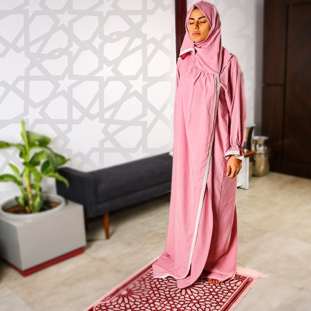 Plain Open Prayer Wear - S/M Pink