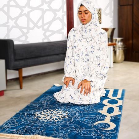 Floral Prayer Wear with Belt- S/M - Pattern 2