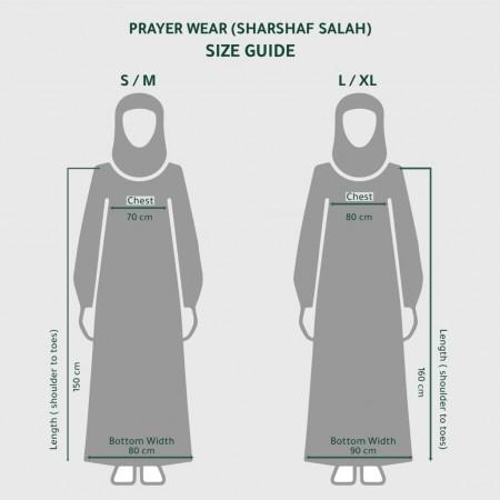 Plain Open Prayer Wear - L/XL Pink