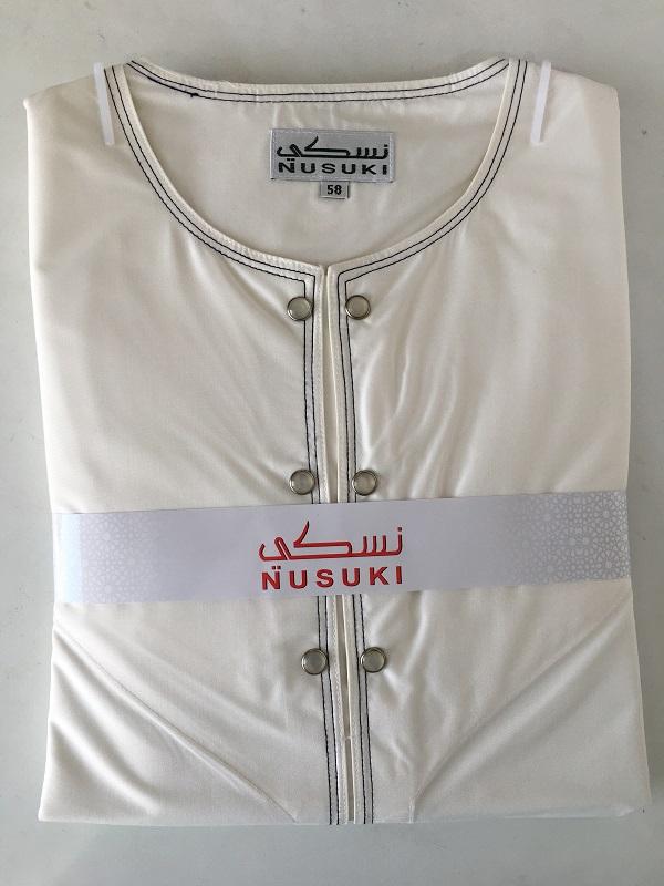 Contemporary Emirati Thobe (Stone Button)