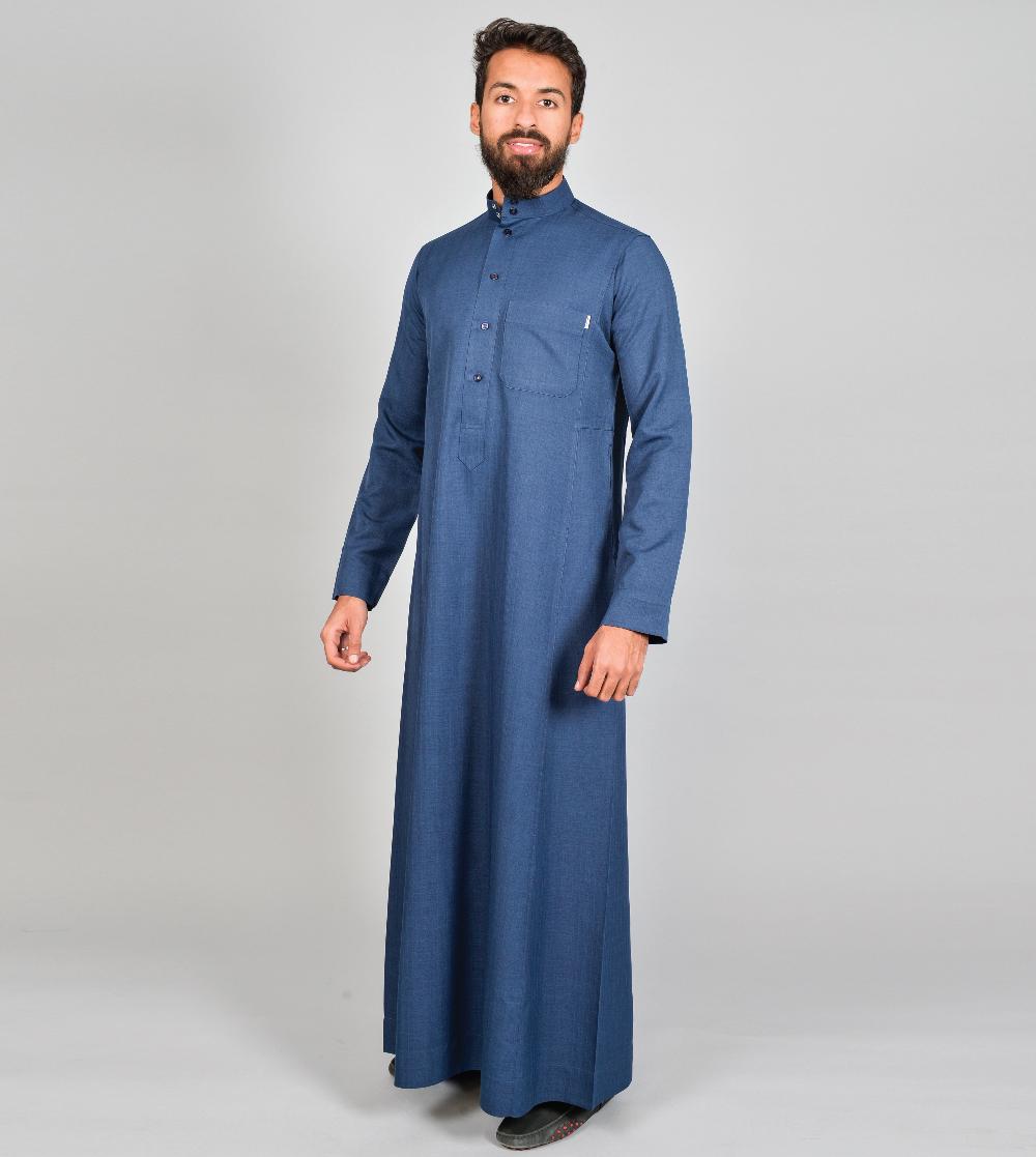ثوب المواسم الأربعة سادة أزرار