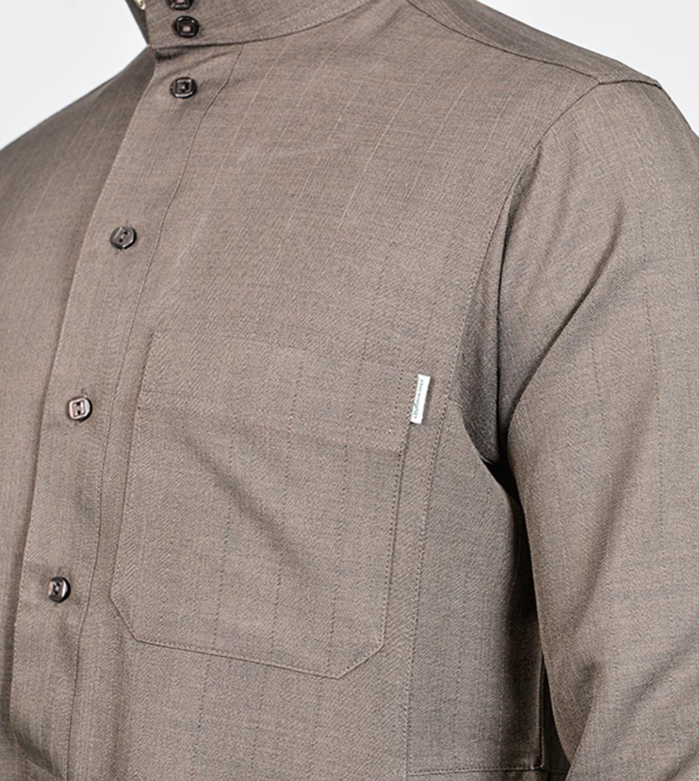 ثوب المواسم الأربعة ساده اللون البني
