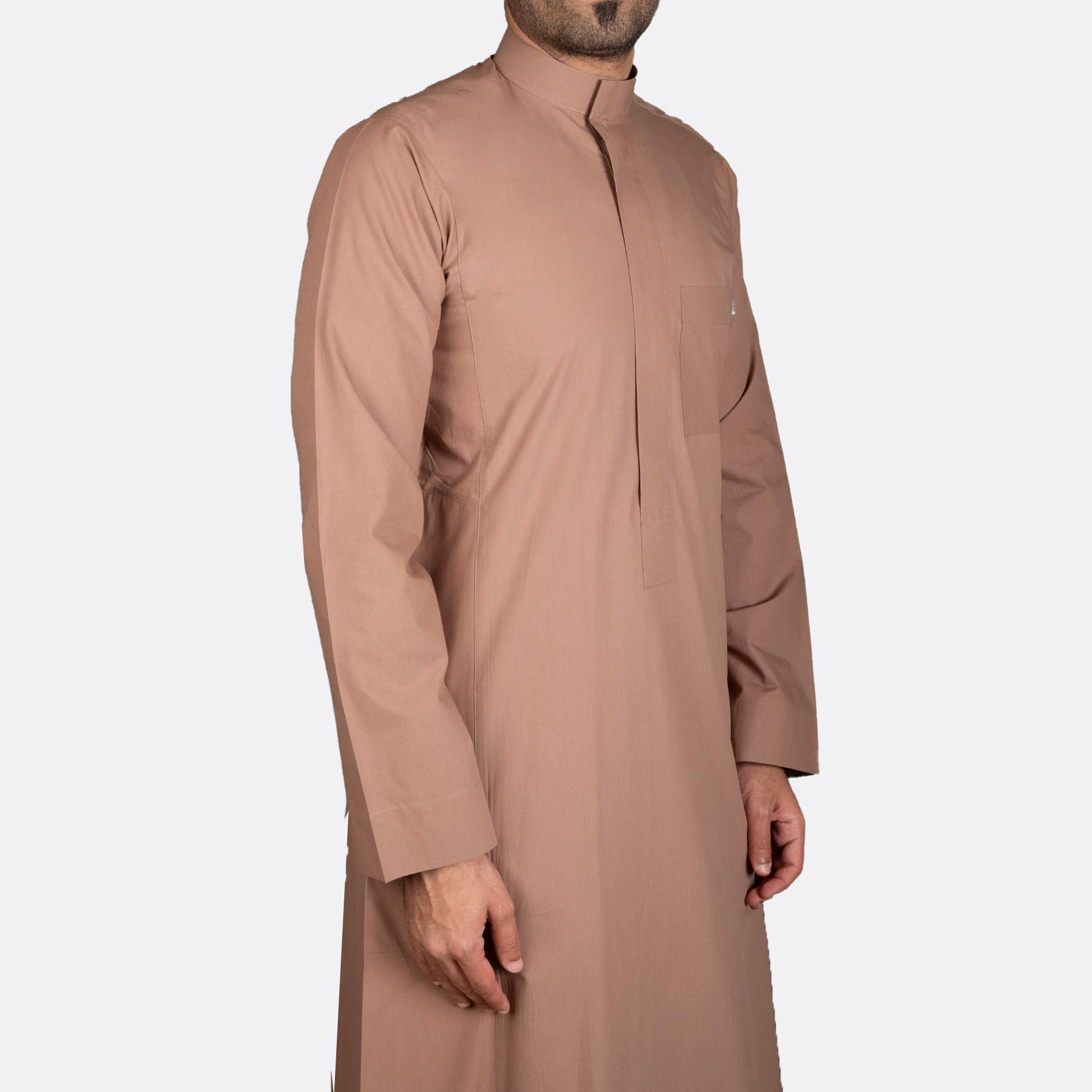 ثوب كلاسيكي قطن جملي سحاب
