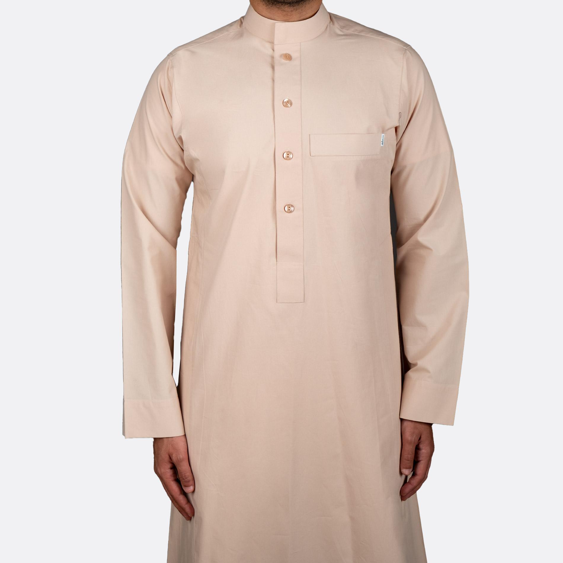ثوب كلاسيكي قطن بيج