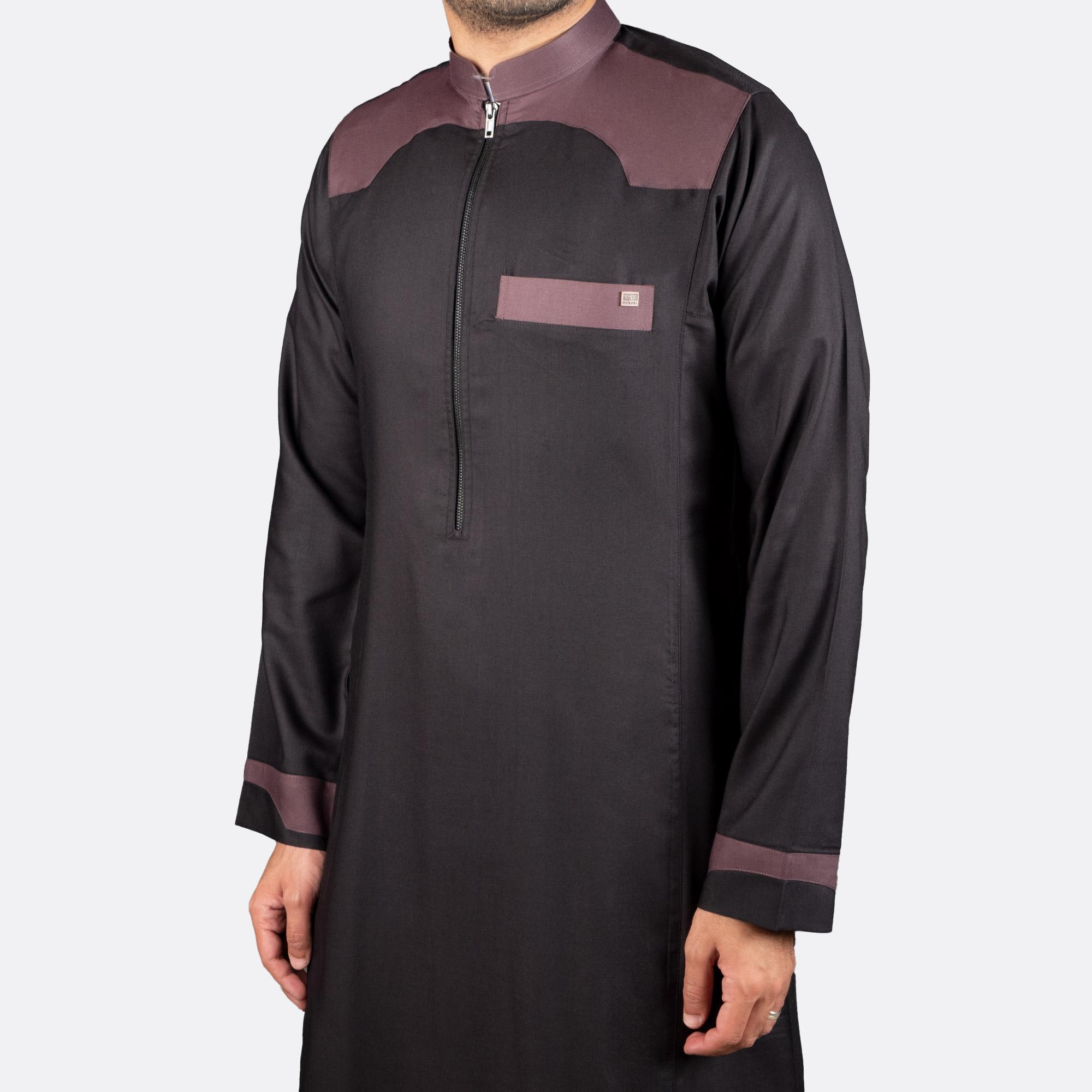 الثوب عصري كاجوال اللون البني
