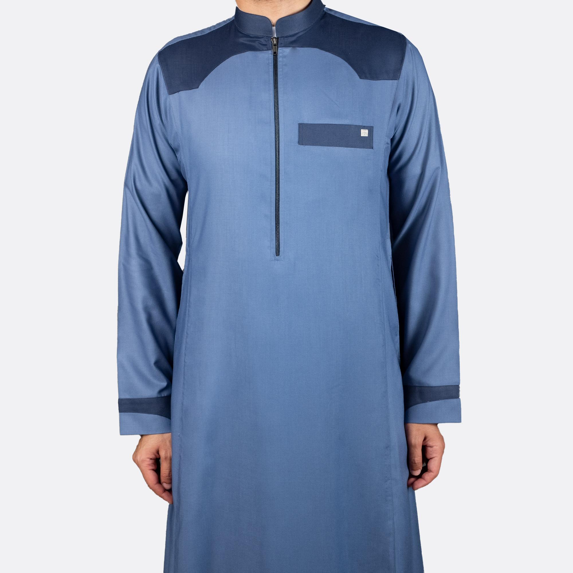ثوب عصري غير رسمي أزرق غامق