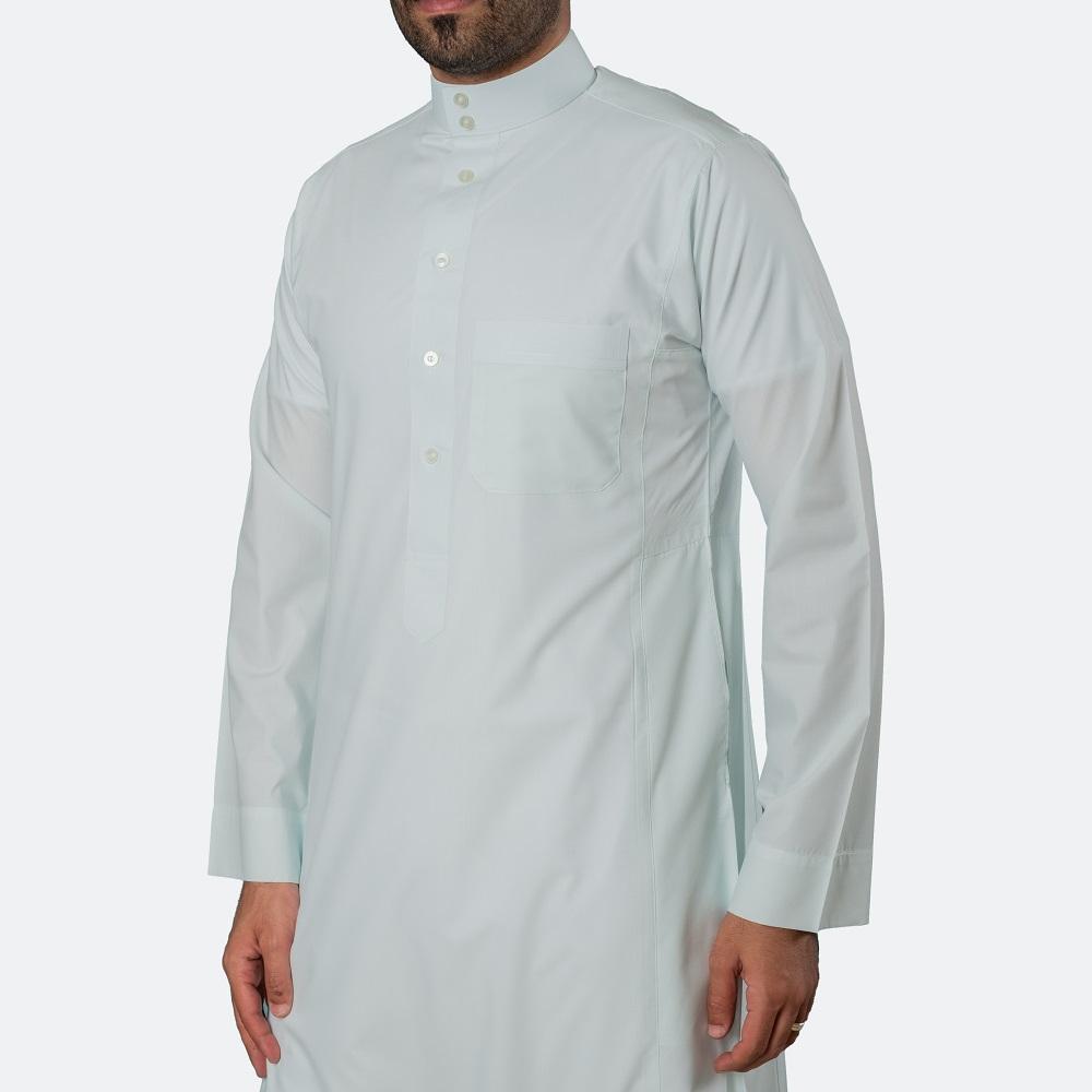 ثوب كلاسيكي فاخر رمادي فاتح