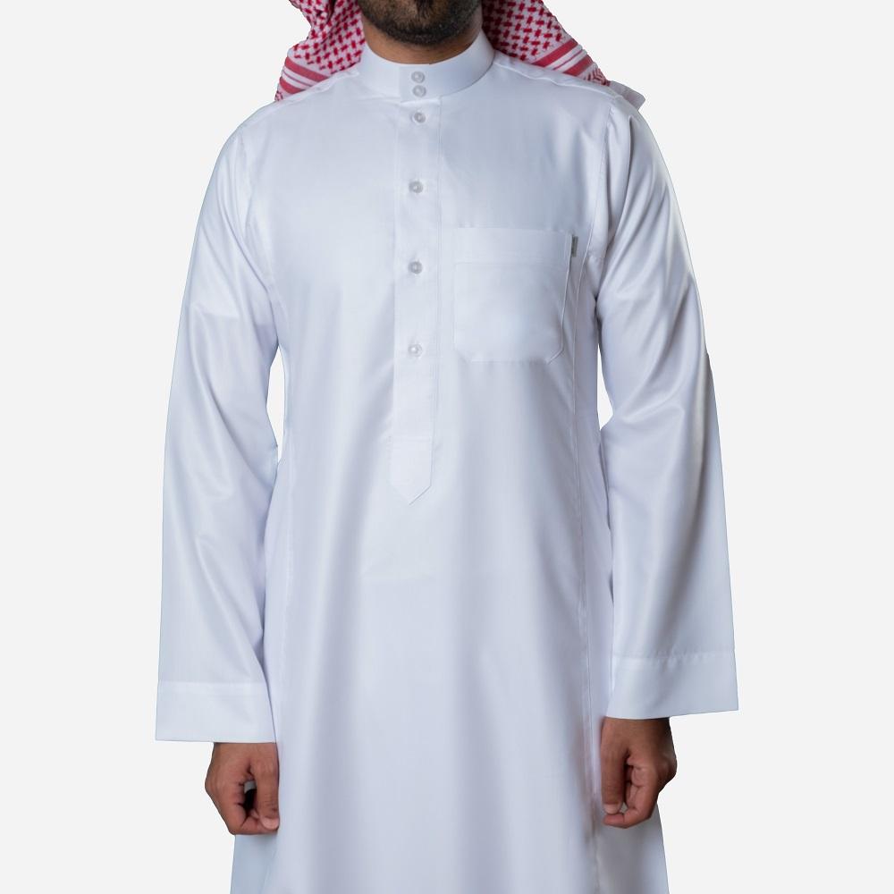 ثوب كلاسيكي قطن أبيض