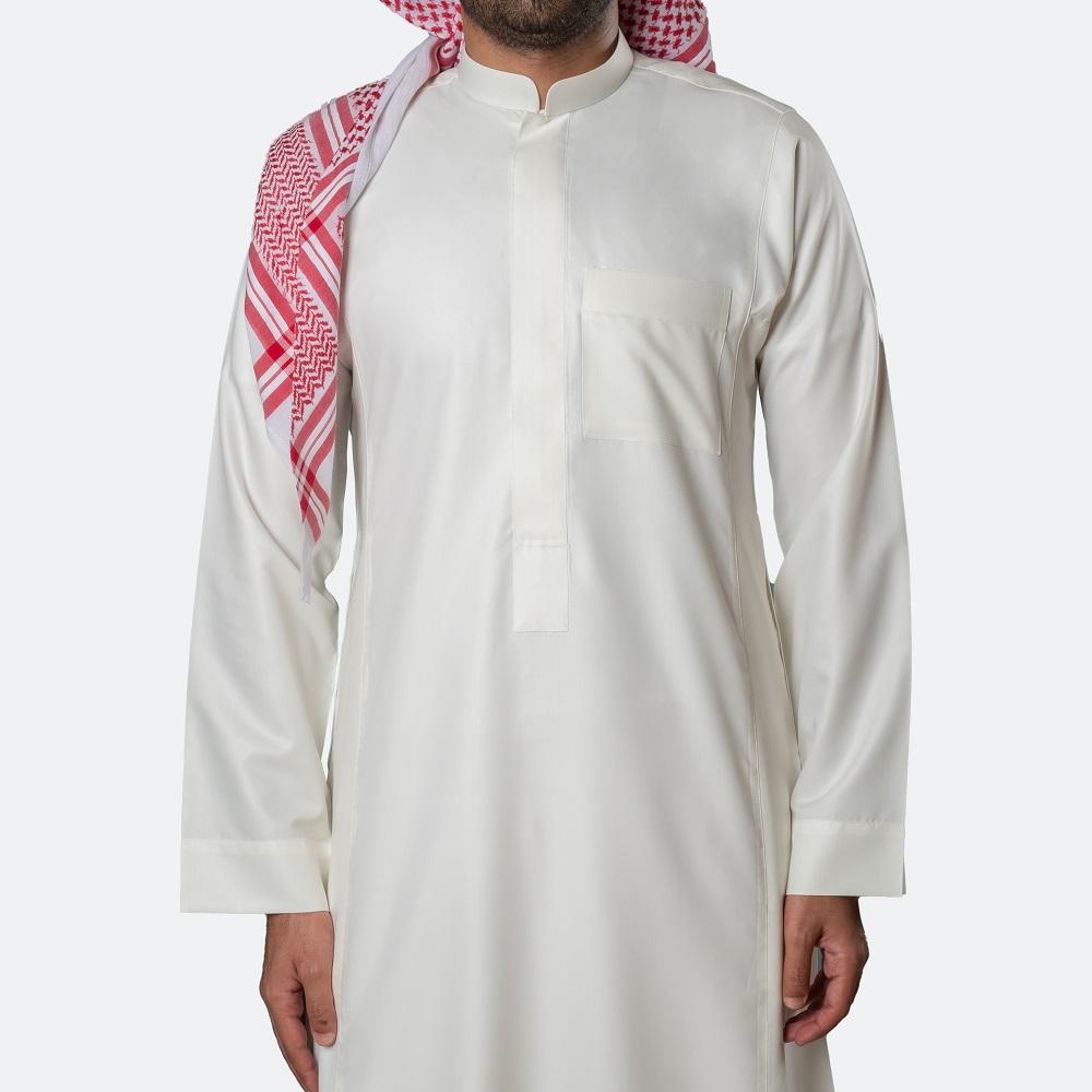 Classic Premium Thobe Off White (Zipper)