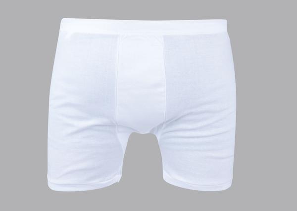 Men's white cotton shorts