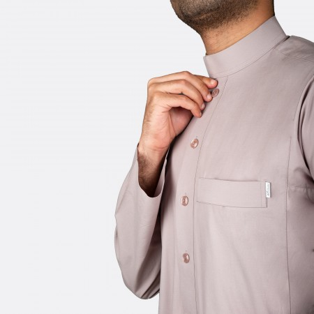 Classic Cotton Thobe Light Brown