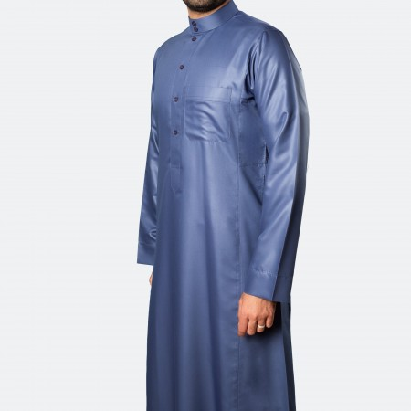 ثوب كلاسيكي فاخر أرزق غامق