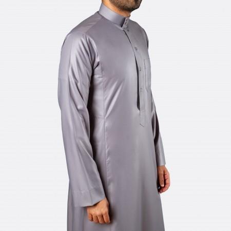 ثوب كلاسيكي فاخر فضّي متوسط