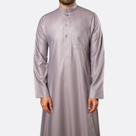 ثوب كلاسيكي فاخر رمادي متوسط