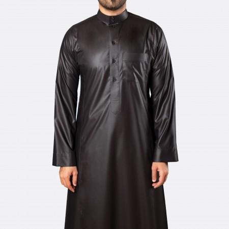 ثوب كلاسيكي فاخر أسود
