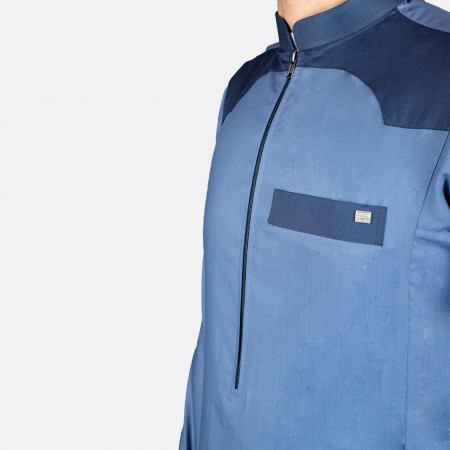 Modern Casual Thobe (Dark Blue)