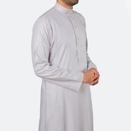 ثوب كلاسيكي فاخر مادي فاتح