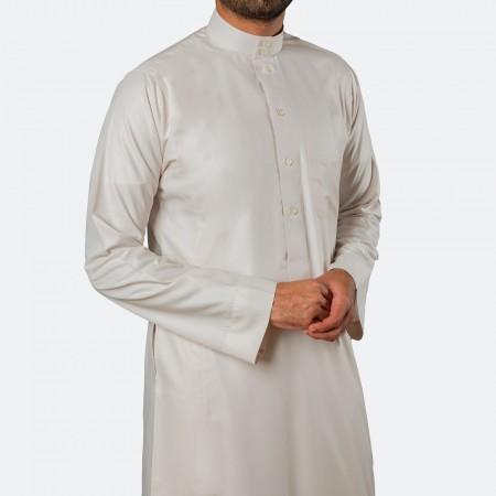 ثوب كلاسيكي فاخر رملي ليموني