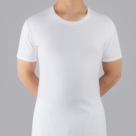 Men's undershirt, half sleeve round neck