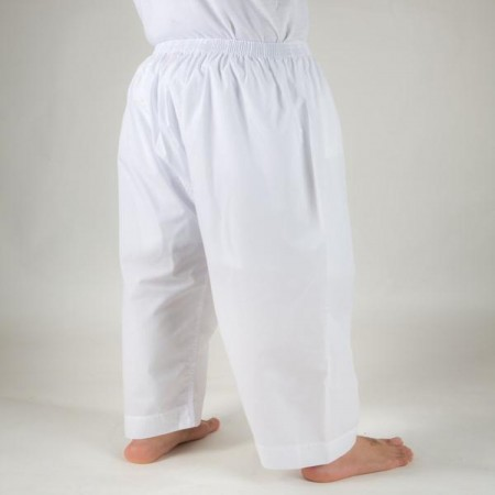 Men's long cloth pants with a chair