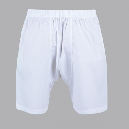 Men's short cloth pants with a chair